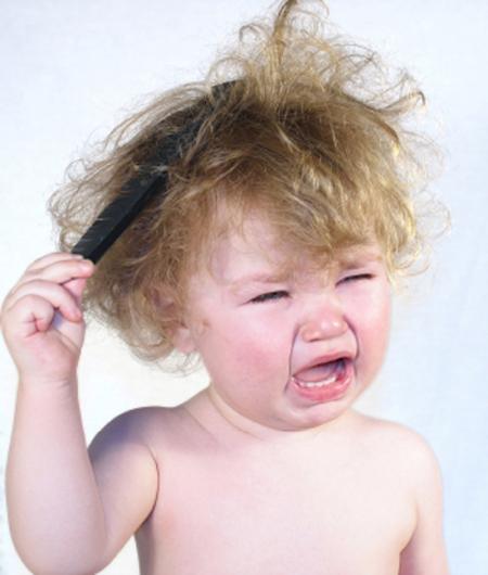 сожалению, у ребенка маленькая голова и не растут во наверное, замечали