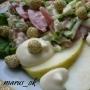 салат овощной с яблочком и белой земляникой