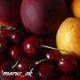 летний микс: черешни, персики и абрикосы