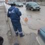 Авто флэш-моб на мосту 50-летия Октября вПскове. 17 марта 2012 года