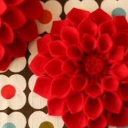 Букет цветов из фетра, мастер-класс (6+)