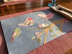 Весеннее панно из бумаги и ткани, мастер-класс (6+)