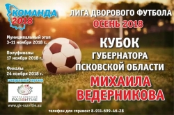 «Осень - 2018», чемпионат по дворовому футболу на кубок губернатора Псковской области (6+)