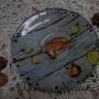 Обратный декупаж на тарелке, мастер класс Раушании Нуретдиновой (6+)