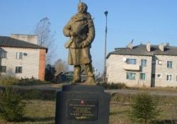 Памятник-скульптура партизанки