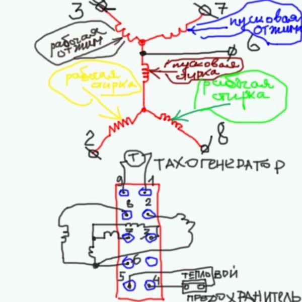 схема подключения двигателя от стиральной машины фея - Практическая схемотехника.